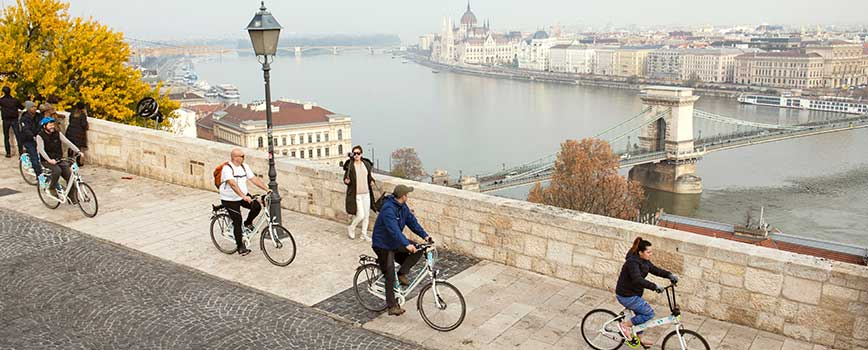 Multigenerational Family on a Biking Adventure in Europe