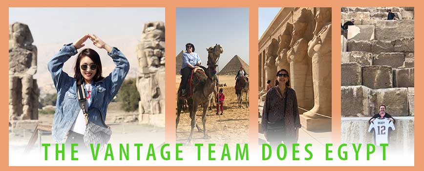 Images of the Vantage Team in Egypt
