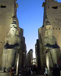 Statues at Luxor