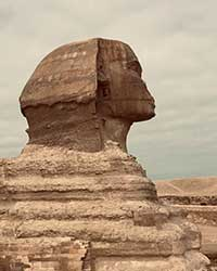 Portrait view of the Sphinx
