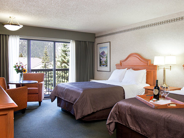 A double room at the Banff Park Lodge