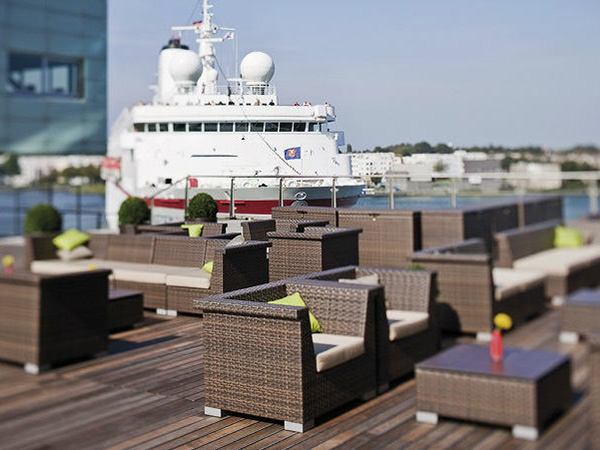 Deck and view, Movenpick Amsterdam hotel