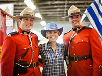 Pax with Royal Canadian Mountie in Banff