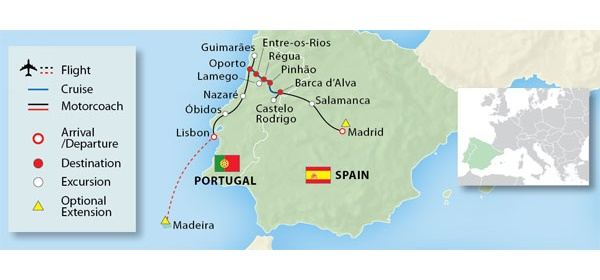 See The Full Itinerary For This Portugals River Of Gold Cruise - Portugal map rivers