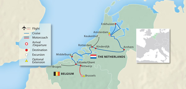 Hand Picked Journey Highlights Our Travel Planners Choose The - Netherlands rivers map