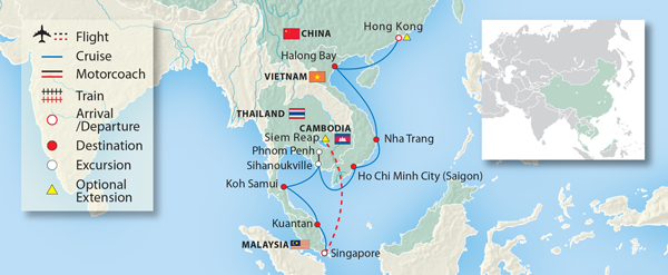 Essential Asia: Hong Kong to Singapore 2021 | Small Ship Cruise
