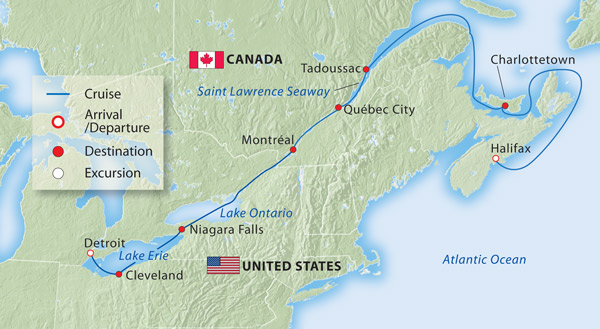 Detroit To Halifax Daily Itinerary For This Cruise - Where is halifax