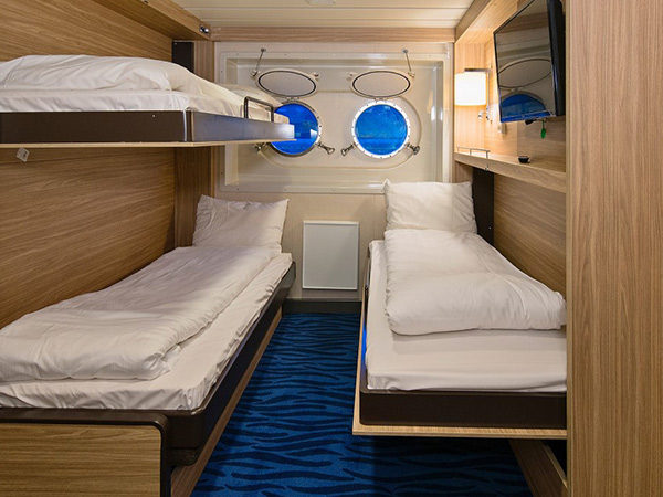 Category UNL3 Polar Outside Triple cabin on the Hurtigruten ms Richard With