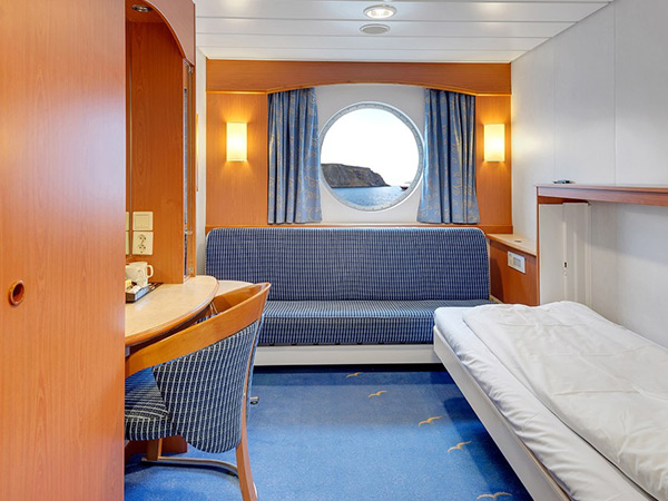 Category USPB Arctic Superior cabin on the Hurtigruten ms Trollfjord